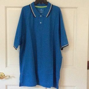 NIP Lands' End Men Blue Active Polo Shirt Size XL
